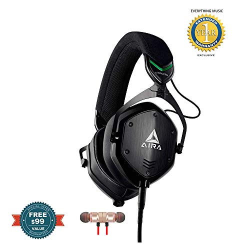 Roland AIRA M-100-AIRA Headphones includes Free Wireless Earbuds - Stereo Bluetooth In-ear and 1 Year Everything Music Extended Warranty