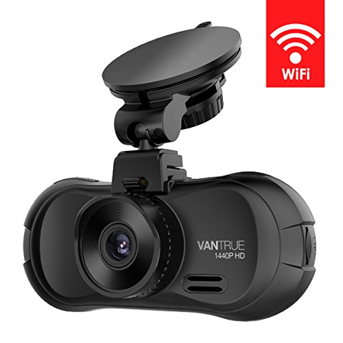 Vantrue X3 WIFI Dash Cam, Super HD 2.5K Car Dashboard Camera 1440P Car Camera with Ambarella A12 Chipset, 170° Wide Angle, Super HDR Night Vision, Loop Recording, Parking Mode, Motion Detection by VANTRUE