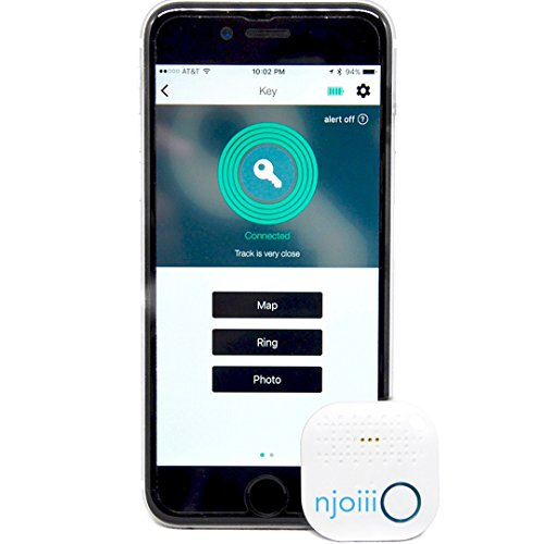 Smart Bluetooth Key Finder Locator. Phone Finder. Wireless Wallet Finder. Pet and Kids Tracker Device. Locator for IOS/Android, Purse, Keychain, Case, Anything. Never Lose Items. 1 Pack- By Njoiii