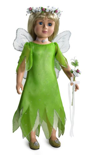 (Fairy Dream Doll Dress, Wings, Shoes & Necklace for 18