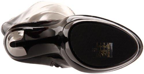 Pleaser Blondie-3000 - Botas Mujer Negro (Negro (Blk Str Pat/Blk-Pewter Chrome))