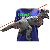 NiGHT LiONS TECH 31.5 inch Huge Soft Dinosaur Toys Kids Realistic Torosaurus with Sound , Big Dinosaur Figures Animal Model Toy Perfect for Kids Toddler Educational Toy and Novelty Home Decoration
