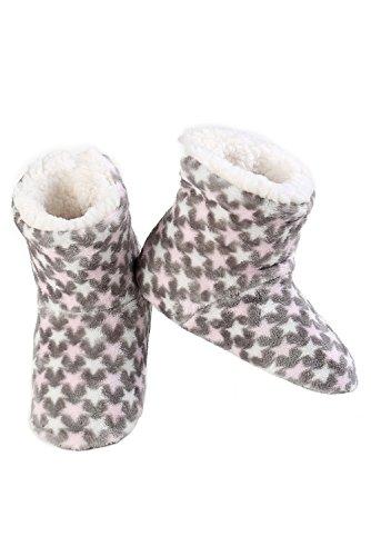 Pantofola Stampata Da Donna Iconoflash Con Fodera In Ecopelle Foderata In Metallo Grigio