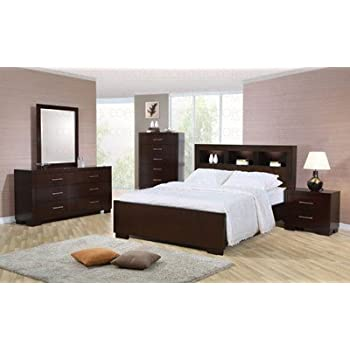 Amazon.com: Jessica Eastern King Bed with Storage Headboard and ...