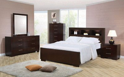 Coaster Jessica Bookcase Bed in Light Cappuccino Finish-King