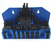 "HHIP 3900-2110 58 Piece 3/8"" T-Slot Clamping Kit with 5/16-18 Stud and 3/8&q"
