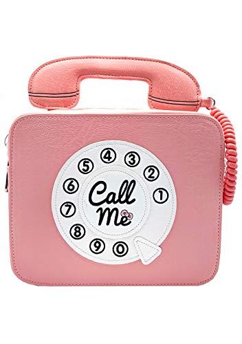 Telephone Hello Kitty (Loungefly x Sanrio Hello Kitty Telephone Call Me Crossbody Purse (One Size, Pink))