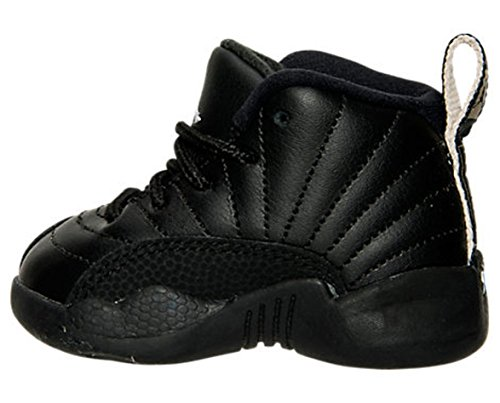 Nike Air Jordan Retro 12 THE MASTER Infant Toddlers Black Rattan White Metallic Gold 850000-013 (8) by NIKE