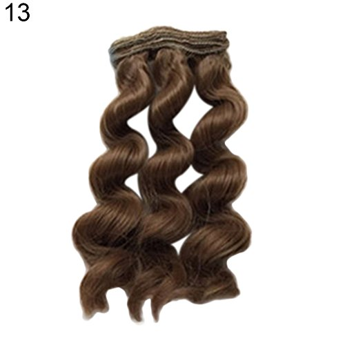ink2055 15cm Wig DIY Curly Hair Repair Accessories Solid Color Children Kids Toys Gift 13# -