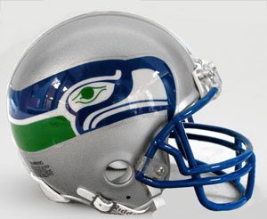 Riddell Seattle Seahawks Replica Mini Helmet (Mini Throwback Football Helmet)