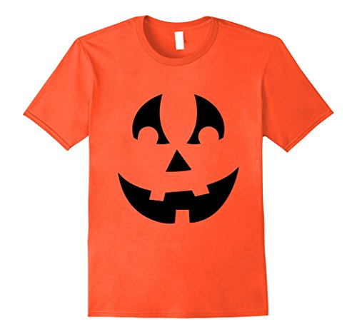 Mens PUMPKIN JACK O' LANTERN T-shirt Fun Easy Halloween Costume T Large Orange - Quick And Easy Halloween Costumes To Make