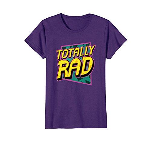 Womens Totally Rad 1980s Retro Graphic Eighties 80s