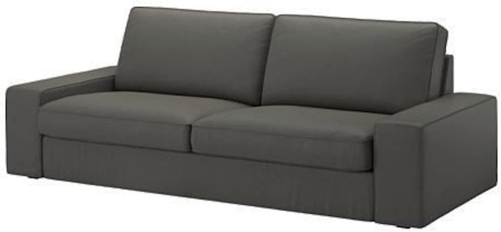 HomeTown Market The Heavy Cotton KIVIK Three Seat (Not Loveseat) Sofa Cover Replacement is Custom Made for IKEA Kivik 3 Seater Sofa Slipcover Only. (Darker Gray)