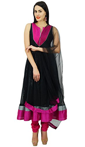 (Atasi Womens Readymade Black Anarkali Suit with Dupatta Salwaar Kameez)