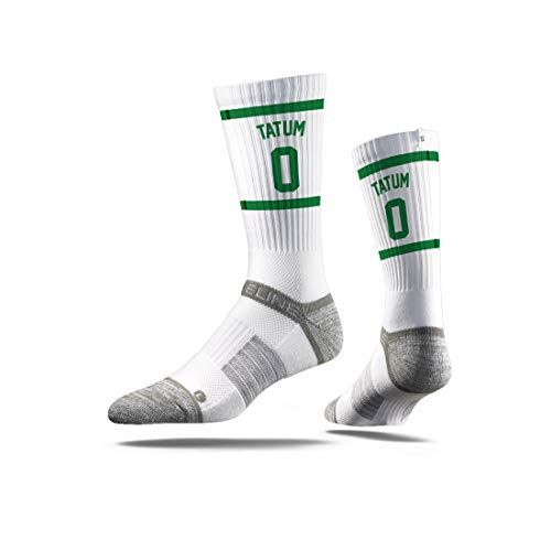 Nba Boston Celtics Jersey - Strideline NBA Boston Celtics Jason Tatum Jersey Premium Athletic Crew Socks, One Size