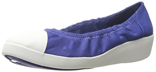 FITFLOP Canvas Ballerina Blue Blu Mazarine F Pop ra4qwfr
