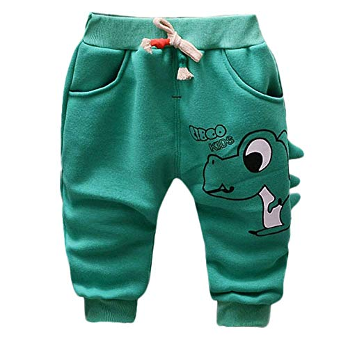 Mish Mish Sweatpants - KAOKAOO Toddler Baby Girls BoysCasual Pants Fashion Trousers (Green-18-24 Months)