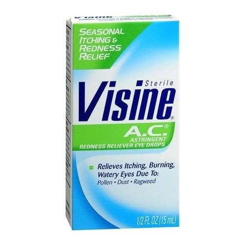 - Visine A.C. Astringent/Redness Reliever Eye Drops 0.5 OZ - Buy Packs and SAVE (Pack of 4)