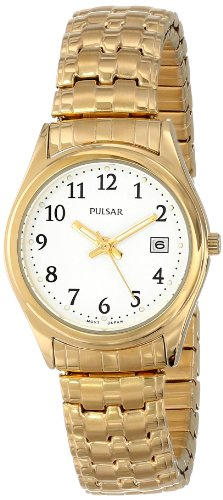 Pulsar Women's PXT586 Expansion Gold-Tone Stainless Steel Watch ()