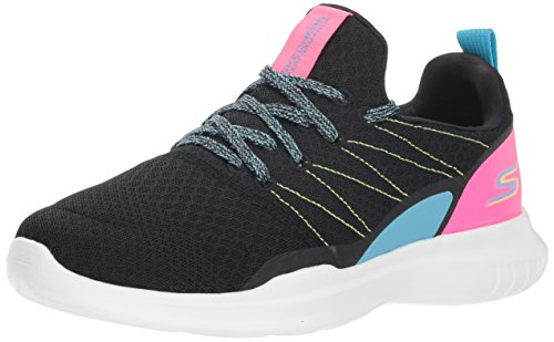 Skechers Women's GO Run MOJO Radar Sneaker, Black/Multi, 6.5 M US (Sports Go Shoes Run)