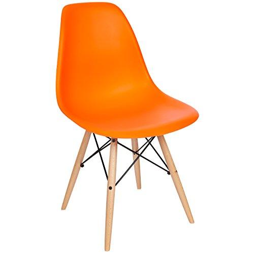Poly and Bark Vortex Side Chair, Orange