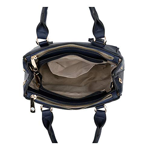Black Viva a per tracolla London Borsa Medium Blue Floor donna BYrqBPE