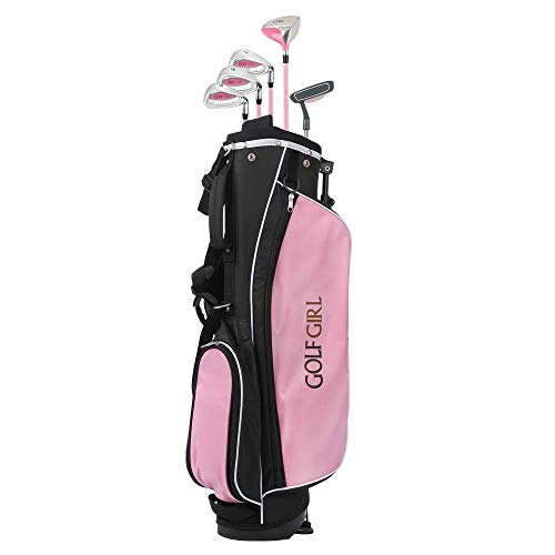 Golf Girl Junior Club V2 Youth Right Hand Set for Kids with Pink Stand Bag