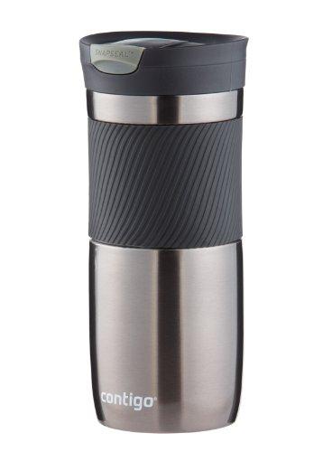 Contigo SnapSeal Byron Vacuum-Insulated Stainless Steel Travel Mug, 16 oz., Gunmetal