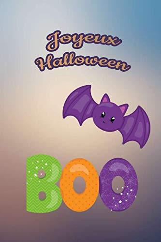 Joyeux Halloween: Pour nos petits : Petit carnet de notes de 121 pages blanches avec couverture et pages sur le thème d'Halloween (Mon petit journal d'Halloween) (French Edition)