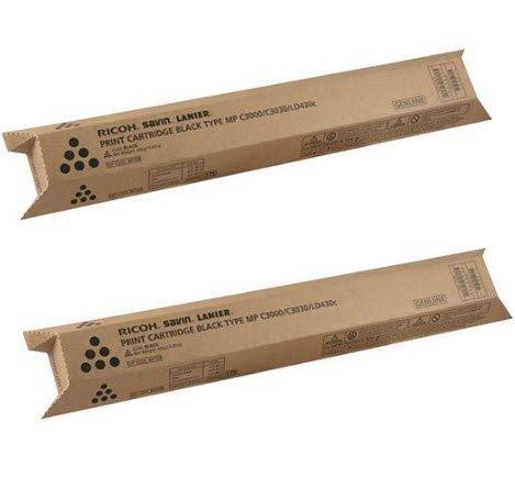 841338 Genuine Ricoh Toner Cartridge 2 Pack, Type-MPC3KA, 20000 Page-Yield Per Ctg, Black