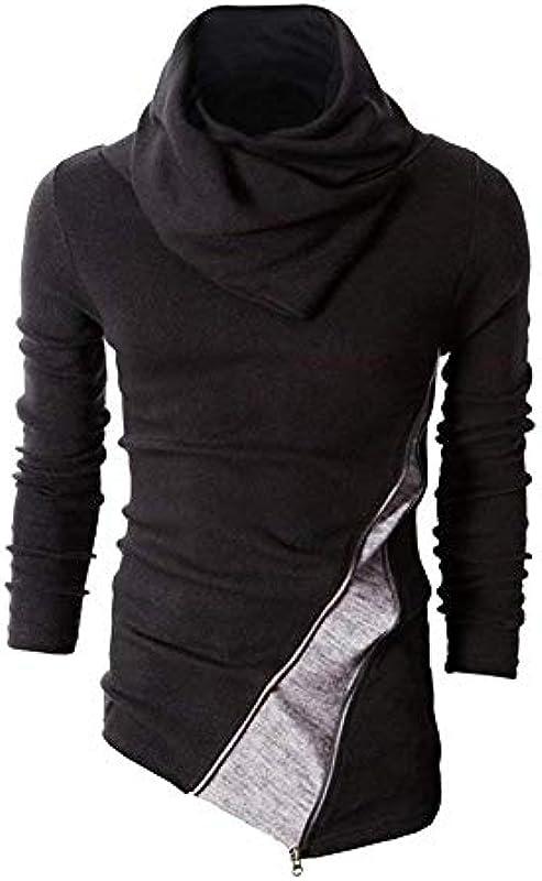 Męski sweter z zwijanym kołnierzem bluza moda długi rękaw sweter dziergany casual jesień Modernas swobodna zima wysoki kołnierz gÓrne części topy: Odzież