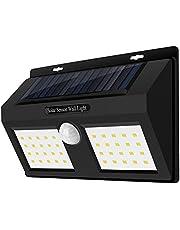 مصباح جداري يعمل بالطاقة الشمسية ومضاد للماء 40-LED PIR مستشعر الحركة مصباح جداري، ضوء شرفة المسار