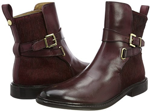 CLASS HAND SHOES HAMILTON amp; MH MELVIN Boots Chelsea OF Sally Damen 64 Braun MADE Burgundy X0qwwt5