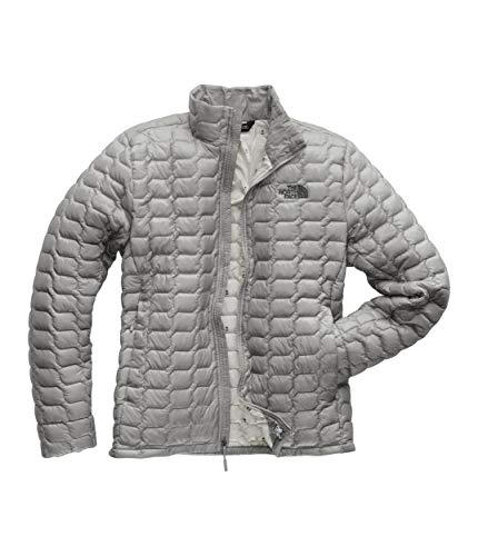 The North Face Men's Thermoball Jacket, Mid Grey/High Rise Grey Campfire Print, Large (North Face Equipment)