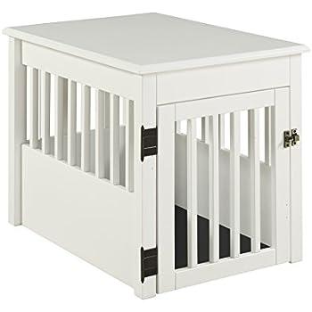 Amazon Com Barkwood Pet Crate End Table White Finish