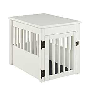 BarkWood Pet Crate End Table - White Finish 17