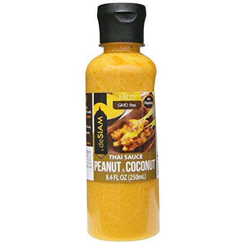 deSIAM Thai Sauce, Peanut & Coconut, 8.4 Ounce