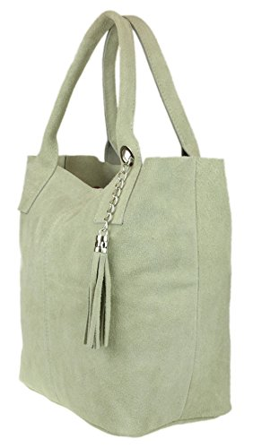 Real Top Open Beige Girly Suede Bag Shoulder HandBags Italian HwFttPq
