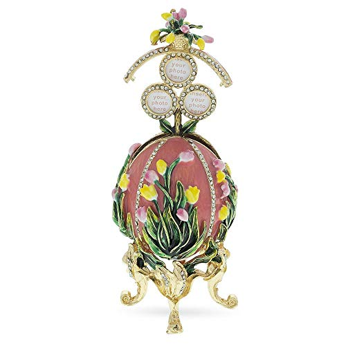 (BestPysanky 1898 Lilies of The Valley Royal Russian Egg in Pink)