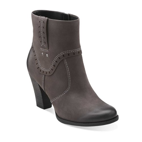 Clarks Women's Alpine Gale Boot,Grey Leather,8.5 M US (Alpine Leather Boot)