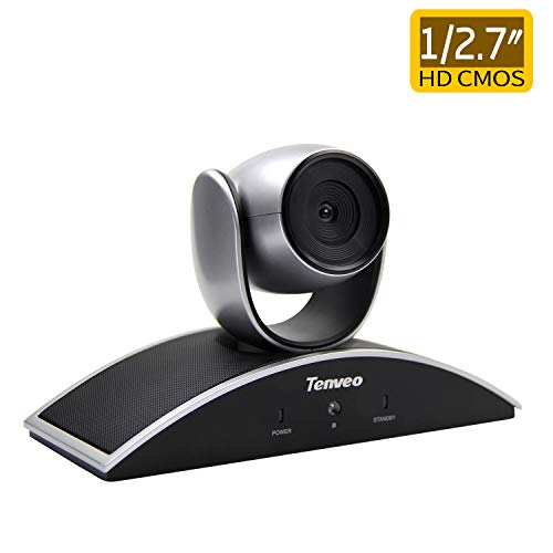Tenveo Video Conference Camera 1/2.7″HD Color CMOS 1080p USB Pan Tilt 2.1 Megapixel Fixed Focus for Small Groups (TEVO-V1080) ()