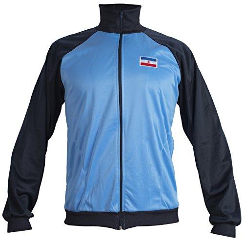 Yugoslavia 1980's Retro Vintage National Football Soccer Jacket Tracksuit Jumper Man Top Blue