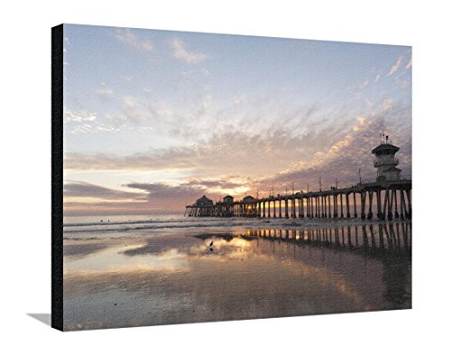 Huntington Beach Pier, California, United States of America, North America by Sergio Pitamitz, Stretched Canvas Print, 32x24 in
