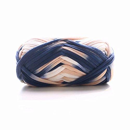 (Celine lin One Skein Fancy Crochet Cloth Yarn Hand Knitting Rugs Woven Crocheted Basket Baby Blanket Rainbow Yarn 100g,Multi-colored38)