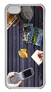 Customized iphone 5C PC Transparent Case - Beginning Of Autumn Personalized Cover