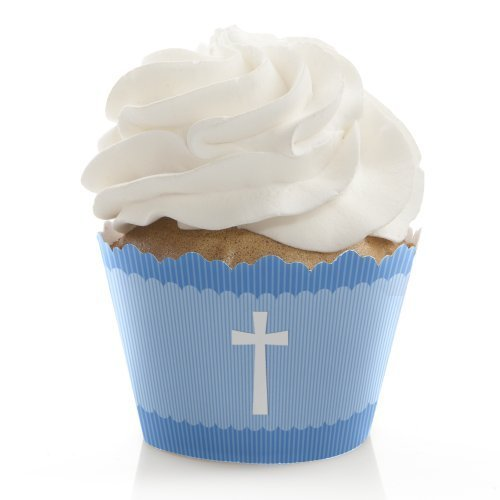 - Baptism Decorations - Party Cupcake Wrappers - Set of 12 ()