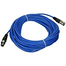 Seismic Audio-SAXLX-50-50-Feet Blue XLR Male to XLR Female Microphone Cable-Balanced-50 Foot Patch Cord