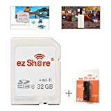 ez Share 8GB 16GB 32GB Card Adater WiFi SD Memory Card WiFi SDHC Class10 SD Card Wireless Camera Memory Card for Camera (32GB)