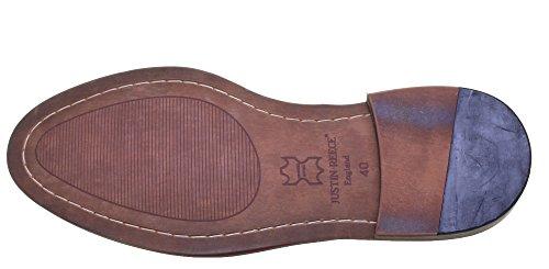 Justin Reece aus mattem Leder D200 6 Herren Schuhe Wein