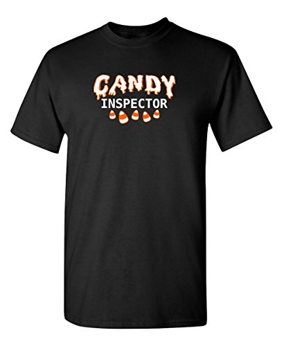 Candy Inspector Sarcastic Novelty Costume Funny Halloween T-Shirt 4XL -